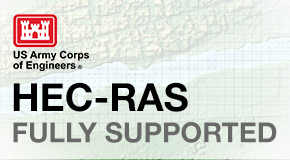 Compute HEC-RAS steady and unsteady flow results directly within the software, no external data processing required. Read and write standard US Army Corps HEC-RAS data files, ready for regulatory agency submittal.