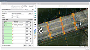 Stamp bridge piers into the 2D mesh for the following pier shapes: Circular pier, Rectangular round nosed pier, Rectangular sharp nosed pier, Rectangular square nosed pier, Square pier. Interactively place and rotate the bridge piers relative to the roadway crossing.