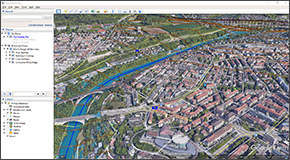 Create stunning visualizations directly from the software of different design alternatives to help better understand the impact of the design on the community and the surrounding environment. Publish the HEC-RAS model directly to Google Earth for even greater visualization and understanding of the project.